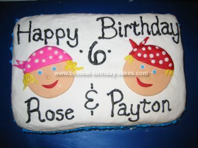 Homemade Pirate Kids Cake