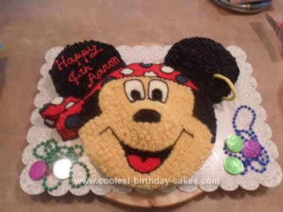 Homemade Pirate Mickey Birthday Cake Idea