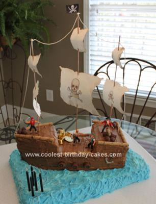 Surprising Coolest Pirate Ship 5Th Birthday Cake Birthday Cards Printable Inklcafe Filternl