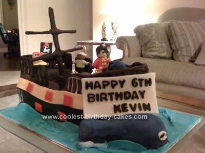 Astounding Coolest Pirate Ship Birthday Cake Funny Birthday Cards Online Aboleapandamsfinfo