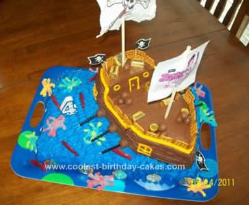 Awesome Coolest Pirate Ship Birthday Cake Birthday Cards Printable Inklcafe Filternl