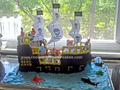 Homemade Pirate Ship Cake