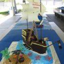 Homemade Pirate Ship Wreck Island Cake