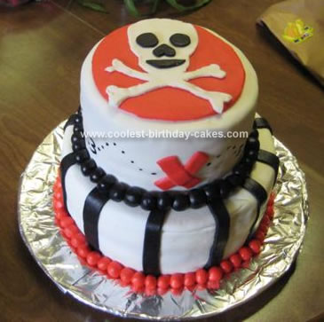 Homemade Pirate Skull Cake