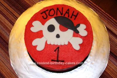 Homemade Pirate Skull Cake