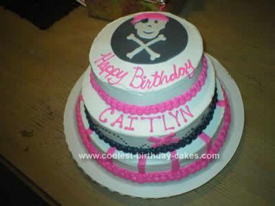 Homemade Pirate Theme Birthday Cake