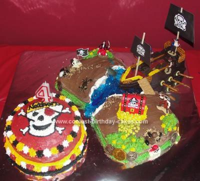 Homemade Pirate Theme Cake
