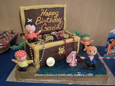 Homemade Pirate Treasure Cake