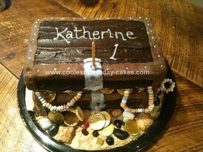 Homemade Pirate Treasure Chest Birthday Cake