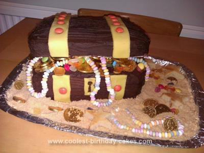 Coolest Pirate Treasure Chest Birthday Cake