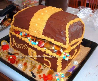 Swell Coolest Pirate Treasure Chest Cake Funny Birthday Cards Online Aeocydamsfinfo