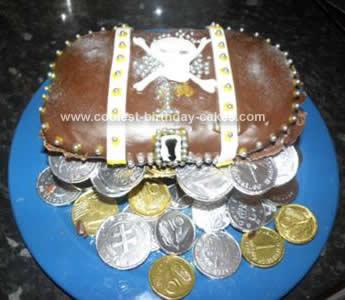 Homemade Pirate Treasure Chest Cake