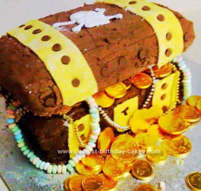 Homemade Pirates Treasure Chest Cake