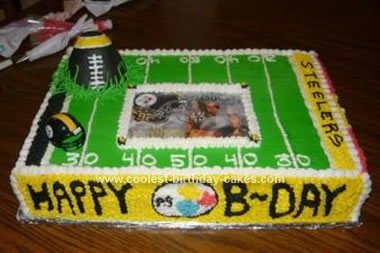 Wondrous Coolest Pittsburgh Steelers Cake Funny Birthday Cards Online Aeocydamsfinfo