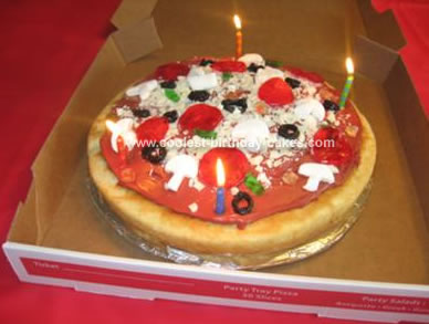 Admirable Coolest Pizza Birthday Cake Funny Birthday Cards Online Alyptdamsfinfo