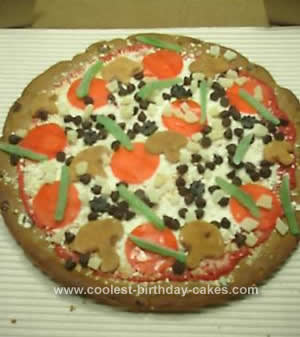 Homemade Pizza Birthday Cake Design