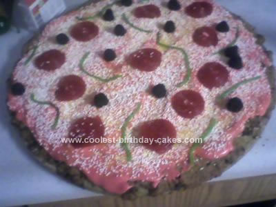 Homemade Pizza Cookie Cake