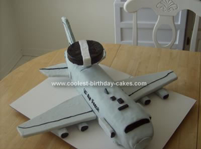 This Was An AWACS Military Plane Cake For A Birthday Going Off To Work In Party Came At Three Feet Long With Almost Foot Wingspan