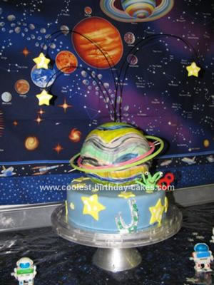 Homemade Planet Cake