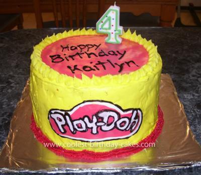Homemade Play Doh Birthday Cake