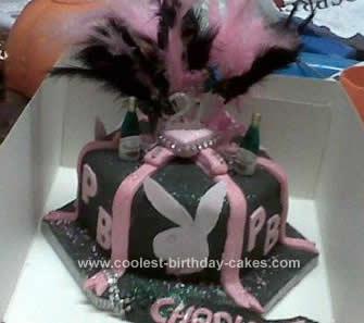 Homemade Playboy Box Cake