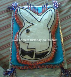 Homemade Playboy Bunny Birthday Cake