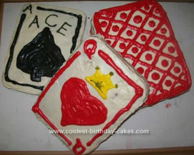 Homemade Playing Card Cake