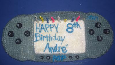 Homemade Playstation Birthday Cake