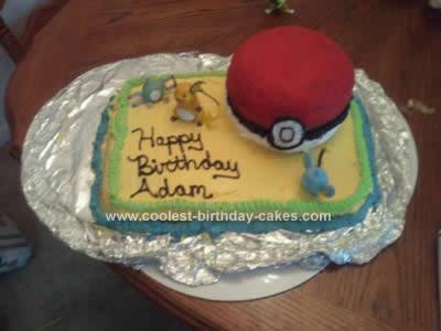 Homemade  Pokemon Birthday Cake