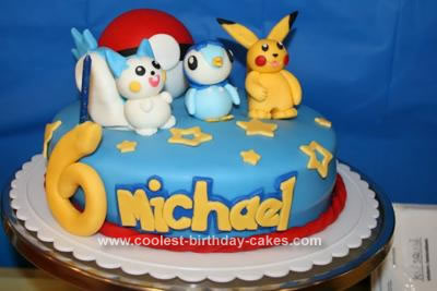 Homemade Pokemon Birthday Cake