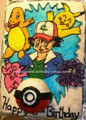 Homemade Pokemon Gang Cake
