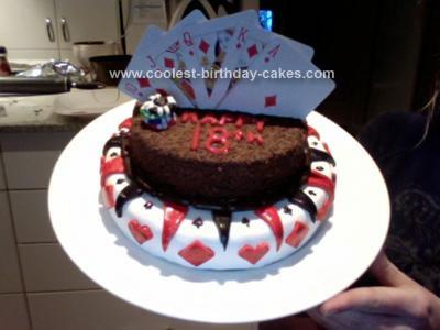 Homemade Poker 18th Birthday Cake