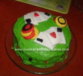 Homemade Poker Birthday Cake