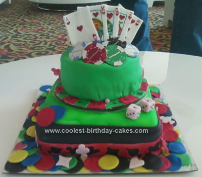 Homemade Poker Birthday Cake