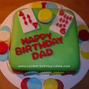 Homemade Poker Cards Chips Birthday Cake Design
