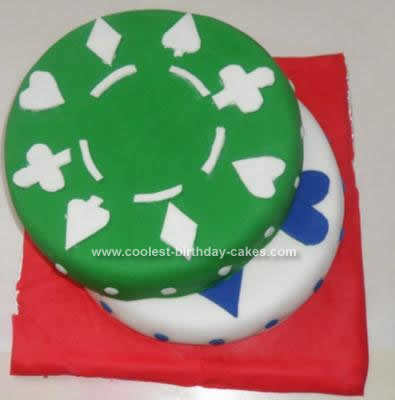 Homemade Poker Chip Cake