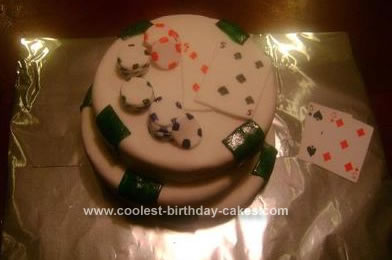 Homemade Poker Pair Cake