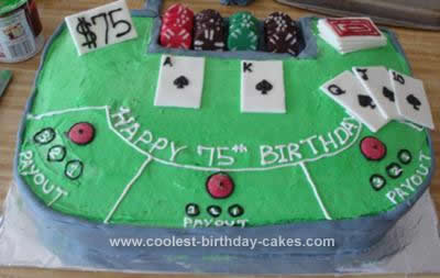 Homemade Poker Playing Card Cake
