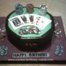 Homemade Poker Table Birthday Cake