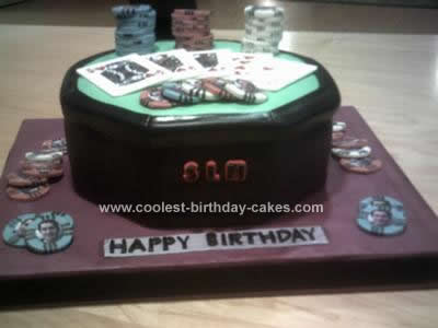 Homemade Poker Table Birthday Cake