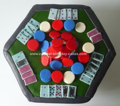 Homemade Poker Table Cake