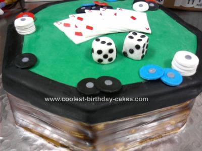 Homemade Poker Table Cake