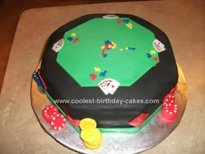 Homemade Poker Table Cake Design
