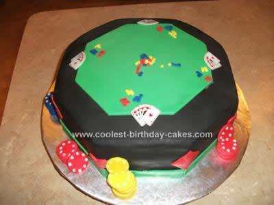 Homemade Poker Table Cake Design