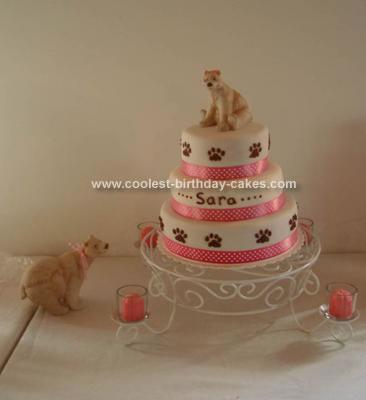 Homemade  Polar Bear Baby Shower Cake