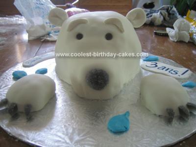 Groovy Coolest Polar Bear Birthday Cake Funny Birthday Cards Online Aeocydamsfinfo