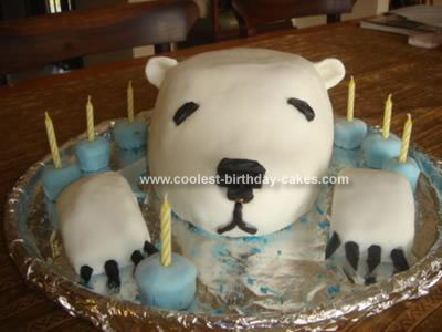 Homemade Polar Bear Birthday Cake