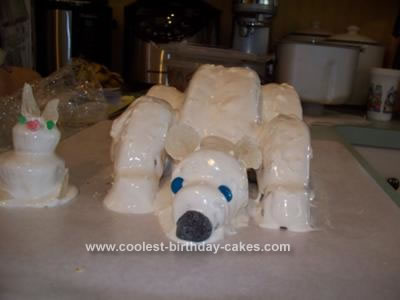 Homemade Polar Bear Cake