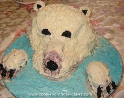 Homemade  Polar Bear Cake