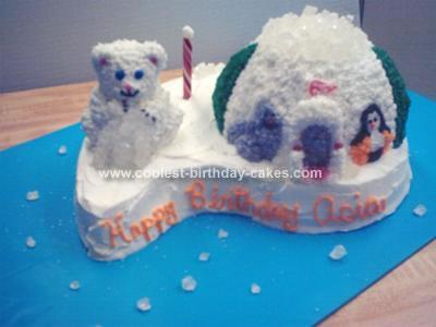 Homemade Polar Bear Island Cake